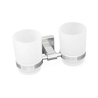 Stainless Steel Wall Mount Double Glass Holder