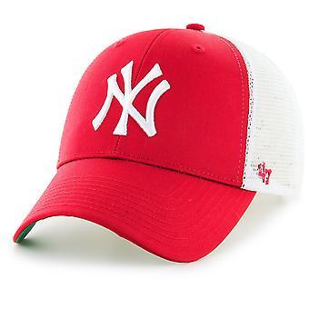 47 Marka Snapback Cap - BRANSON New York Yankees Kırmızı