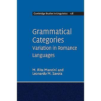 Grammatical Categories by M Rita Manzini