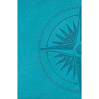 CSB Heart of God Teen Studie Bibeln Teal - Compass Design LeatherTouch