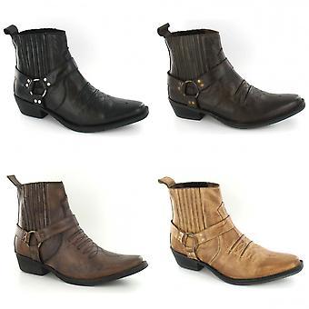 Maverick Mens A3003 Cowboy Ankle Boots