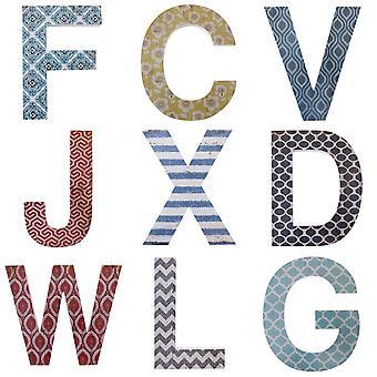 Decoração da parede do alfabeto algo diferente letra