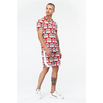 Hype Budweiser Herren kubanischen Kragen Shirt