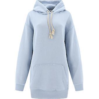 Acne Studios Ai0044powderblue Femmes-apos;s Light Blue Cotton Sweatshirt