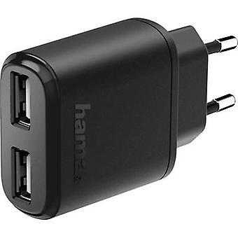 Hama 2-fach 173623 caricabatterie USB Mains presa Max. corrente di uscita 2400 mA 2 x USB