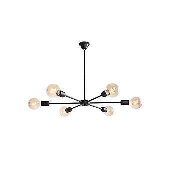 Pavonis Suspension Lampe Black Metal Couleur, L69xP69xA54 cm