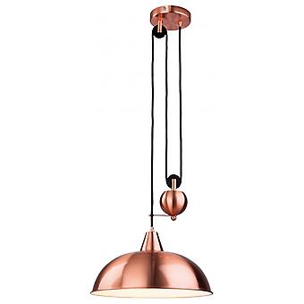 Century Pendant Lamp, Brushed Copper