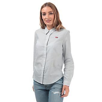 Women's Levis Ultimate Classic Shirt in Blauw