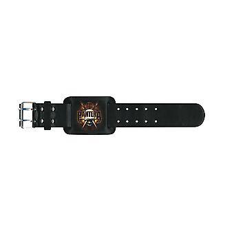 Pantera Wristband Skull Knives band logo Official New Black Leather