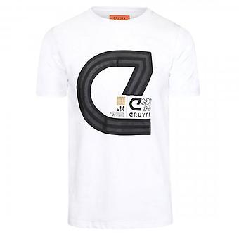 Cruyff Lluis T-shirt Wit CA2700201010