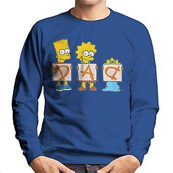 The Simpsons Dad Letters Men's Sweatshirt