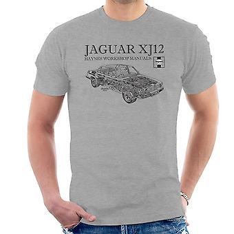 Haynes Owners Workshop Manual 0242 Jaguar XJ12 Black Men's T-Shirt