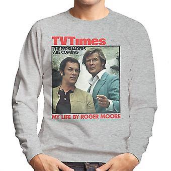 TV ganger Tony Curtis Roger Moore Persuaders 1971 dekker menns Sweatshirt