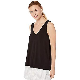 Brand - Daily Ritual Women's Supersoft Terry V-Neck Tank, Black , Large