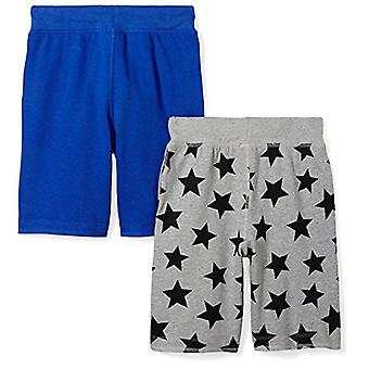 Brand - Spotted Zebra Boys'   Kid 2-Pack French Terry Knit Shorts, Sta...
