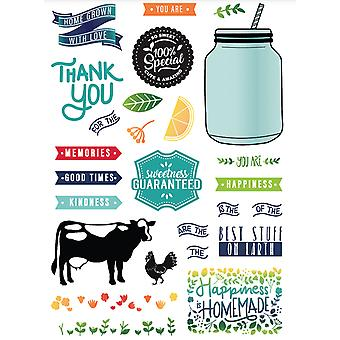 LDRS Creative Homegrown With Love Clear Stamps