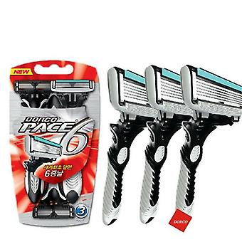 Electric Shaver Pace 6 Layer Straight Razor Beard Machine Men's Razor Blade Shaving Cassettes