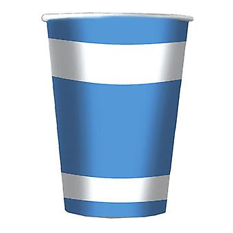 Blue & White Soccer 200cc Paper Party Cups