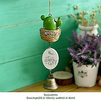Diy Home Decoration Wind Chime - Totoro House Plant Pastoral Style Bell Wind Chime
