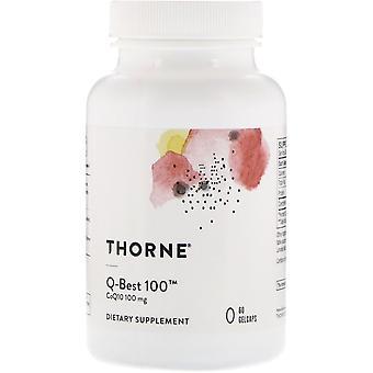Thorne Research, Q-Best 100, 60 Gelcaps