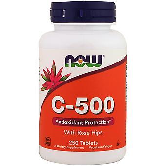 Now Foods, C-500 con Rose Hips, 250 Tabletas