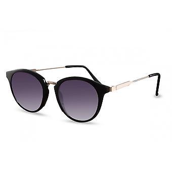 Okulary przeciwsłoneczne Unisex Panto Cat.3 czarny/szary (CWI1582)