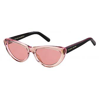 Sunglasses women butterfly black/pink glitter
