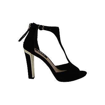 DKNY Women's Shoes Colby Ankle Strap Leather Open Toe Formal Ankle Strap Sand...