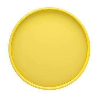 Plateau de service rond de citron de 14 pouces