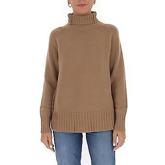'S Max Mara 93661503600082003 Femmes-apos;s Beige Wool Sweater