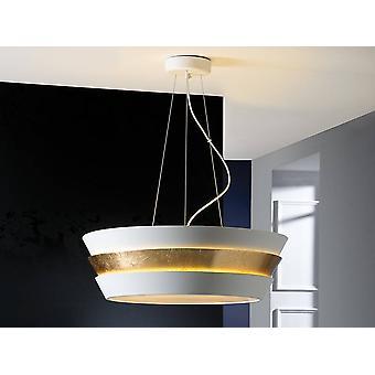 6 Lys Cylindrisk Loft Vedhæng Matt Hvid, Guld, E27