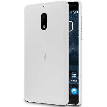 Nokia 6 Shockproof Thin Silicone Solid Colored Shell Mobile Protection Phone Mobile Protection White