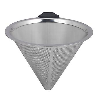 12.5cm 304 Acero Inoxidable Pour Over Coffee Filter