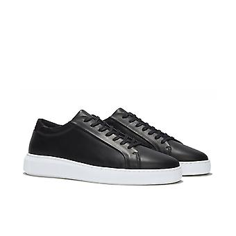 Uniforme Standard Series 8 Double Black Leather Trainers