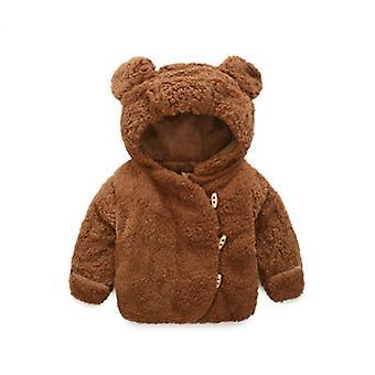 Осень Зима Детские Одежда Теплый Капюшон Куртка и пальто Малыш Полярное руное