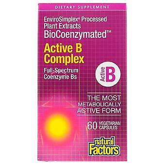 自然因子バイオコエンザイメート活性B複合体、60ベグキャップ