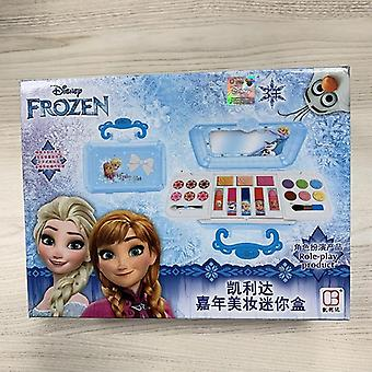 Disney Girls Princess Frozen Elsa Cosmetics Make Up Set -cartoon Anna Elsa Polish Beauty Box Baby Kids Christmas Present