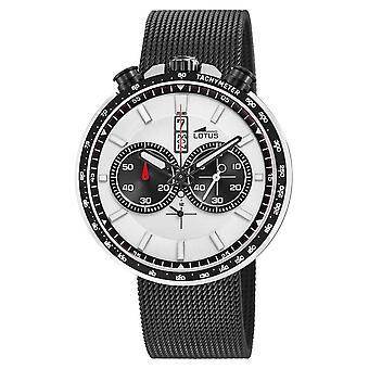 Lotus Men's Black Steel Mesh Bracelet | White/Black Dial L10139/1 Watch