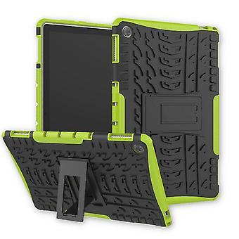 Voor Huawei MediaPad M5 Lite 10.1-inch hybride buiten beschermhoes zaak groene zak cover case