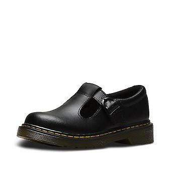 Dr martens polley youth black  t-bar school shoes