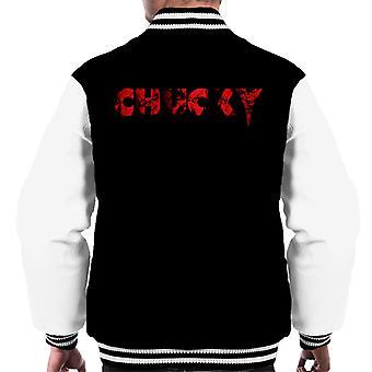 Chucky Logo Bold Face Hombres's Chaqueta Varsity
