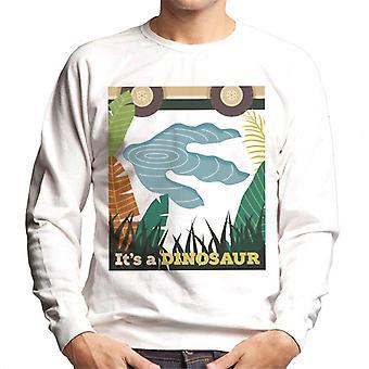 Jurassic Park Its A Dinosaur Footprint Men's Sweatshirt