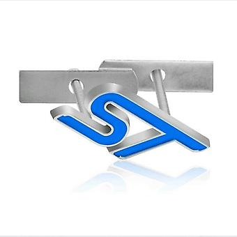 Baby Blue Ford ST Grill Front Grill Bonnet Badge Emblem Boot For Fiesta Focus Mondeo etc