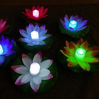 Artificial Lotus Design Floating Led Night Lamp