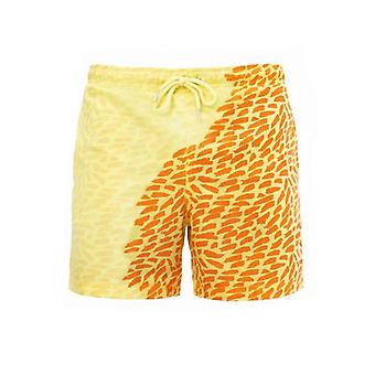 男性魔法の色の変更水泳ショートトランクス、夏の水着水着ショートパンツ