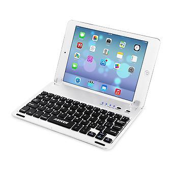 Arteck ultra-fino ipad de maçã mini bluetooth teclado folio capa de caixa com ranhura de suporte embutido para