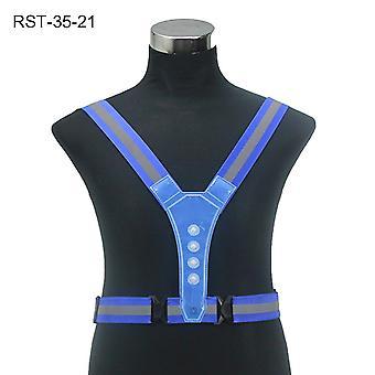 Elastic Led Cycling Vest, Visibility Reflective, Vest Gear Stripes, Belt Riding