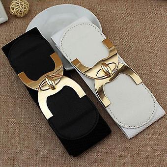 Fashion Korean Style Buckle Elastic Wide Belt Wide Cummerbund Strap Belt