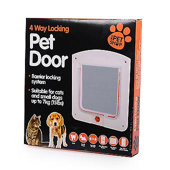 Four modes of pet door to adjust free access to the door hole