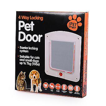 Vier manieren van huisdier deur aan te passen vrije toegang tot de deur gat